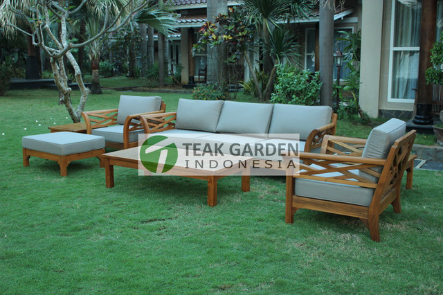 eclectic outdoor furniture. Teak Patio Furniture From Indonesia Eclectic Sectional Outdoor O