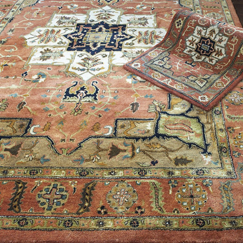 Kashan Hand Tufted Rug traditional-rugs