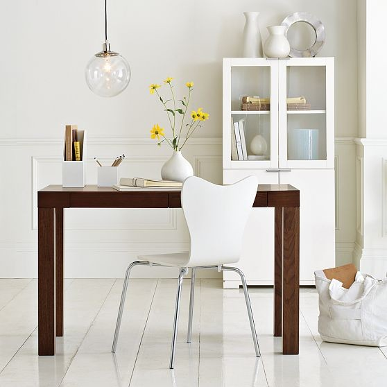 Parsons desk with drawers modern desks and hutches - West elm office desk ...