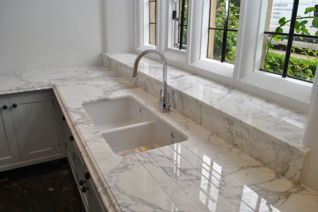 Marble Worktop Traditional Kitchen Worktops Other Metro By Ogle Luxury Kitchens