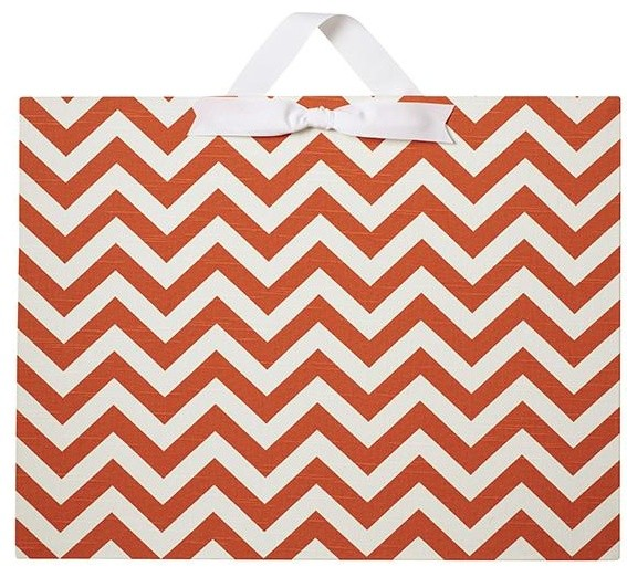 Large Horizontal Chevron Magnet Board traditional-home-decor