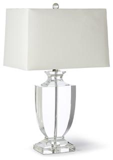 Kedrova Hollywood Regency Crystal Urn Table Lamp