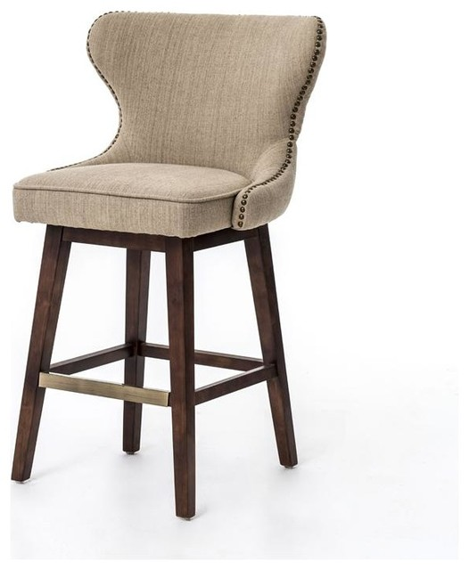 ... Swivel Barstool - Hyde Clay transitional-bar-stools-and-counter-stools
