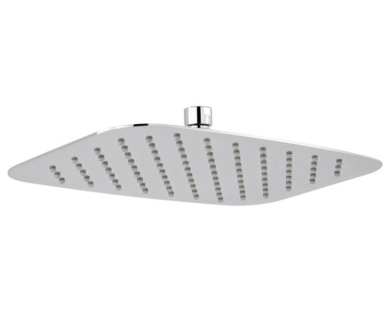Hudson Reed - Hudson Reed Soft Rectangular Fixed Head 10 x 14 - Enjoy a refreshing showering experience with the Hudson Reed 10x14 fixed shower head. Made to a high quality this shower head is great for adding designer style to your bathroom. Hudson Reed Soft Rectangular Shower Head Details   10 x 14 Please note: a shower arm is not supplied