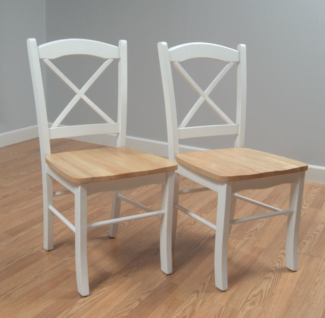 Country Cottage Dining Chair Set Of 2 Contemporary Dining Chairs