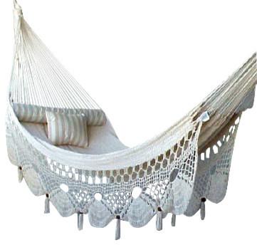 Nicamaka Couples - Ecru tropical-hammocks-and-swing-chairs