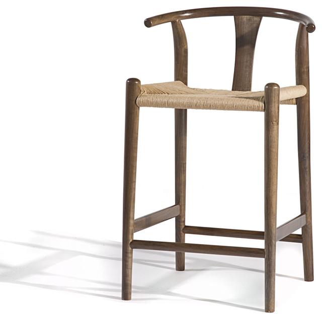 Xian Counterstool, Natural Walnut midcentury-bar-stools-and-counter-stools