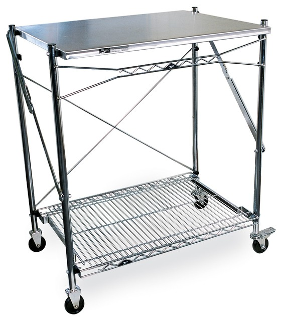 Alera Industrial Kitchen Carts At Lowes Com: Metro Mobile Folding Table