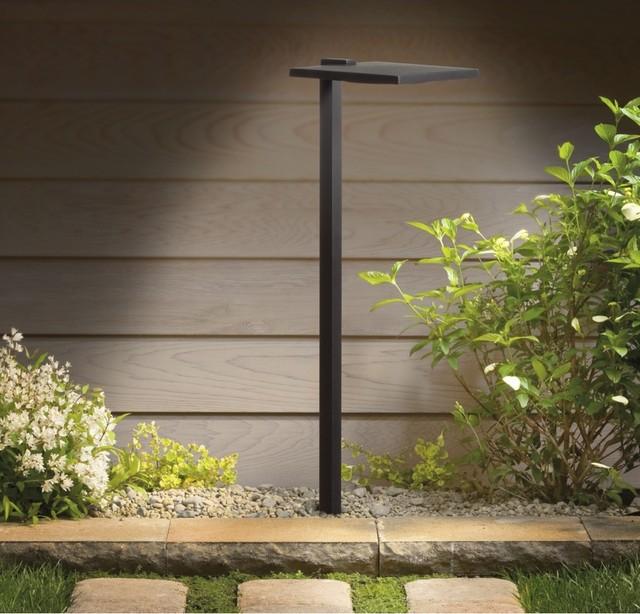 Kichler Black Shallow Shade Outdoor LED Path Light
