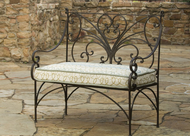 English Iron Garden Bench traditional outdoor stools and benches
