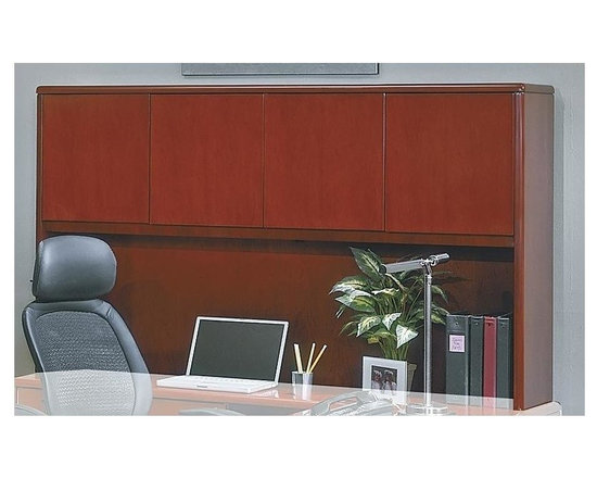 Office Star - Overhead Covered Storage in Wood w Four Doors - Made of Wood. Select hardwood veneers, book-matched. Solid hardwood edges. Cherry finish with medium sheen. Radius wood edges on tops and modesty panels. Compound radius corners on tops. Common grain direction on tops of all components of L and U workstations. Pictured in Cherry Wood. Some assembly required. 72 in. W x 24 in. L x 42 in. H