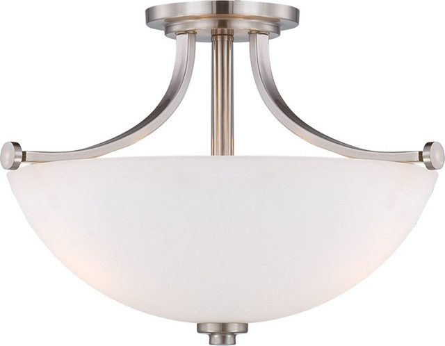 Nuvo Lighting 60-5017 Bentley 3-Light Semi-Flush with Frosted Glass transitional-ceiling-lighting