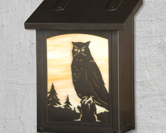 Great Horned Owl Vertical Wall Mounted Mailbox - Everyone loves Owls and now your friends and family can be greeted by this beautiful creatures exclusively from America''s Finest. Select one of our many hand applied patina finishes and complete the design with a beautiful piece of art glass to create the sky behind. Handmade of solid brass this vertical design of this mailbox is perfect for mounting in a narrow space. It has a traditional hinge detail on the lid and a rubber bumper inside to eliminate any noise when closing. The corner rivets complete the design and give this mailbox it's handcrafted look. Easy to mount and a wonderful addition to your front entry this unique Owl design will be a delight for years to come. As with all America's Finest products it carries our lifetime warranty.