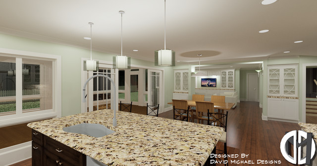 Kitchen & Interiors 3D Views traditional