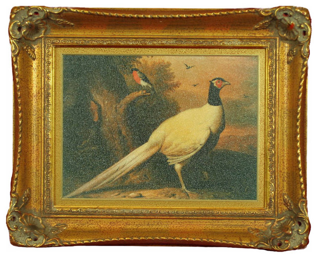 H. Hal Kramer Co. Framed Hunting Pheasant Painting contemporary-artwork