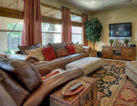 Red and brown living room living room designs for Brown and red living room decorating ideas