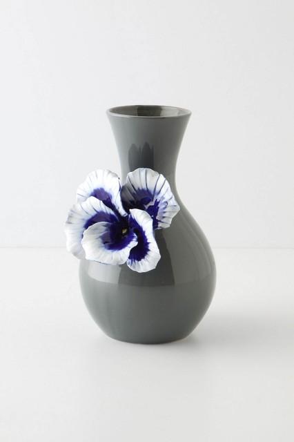 Pretty Pansy Vase, Tall contemporary-vases