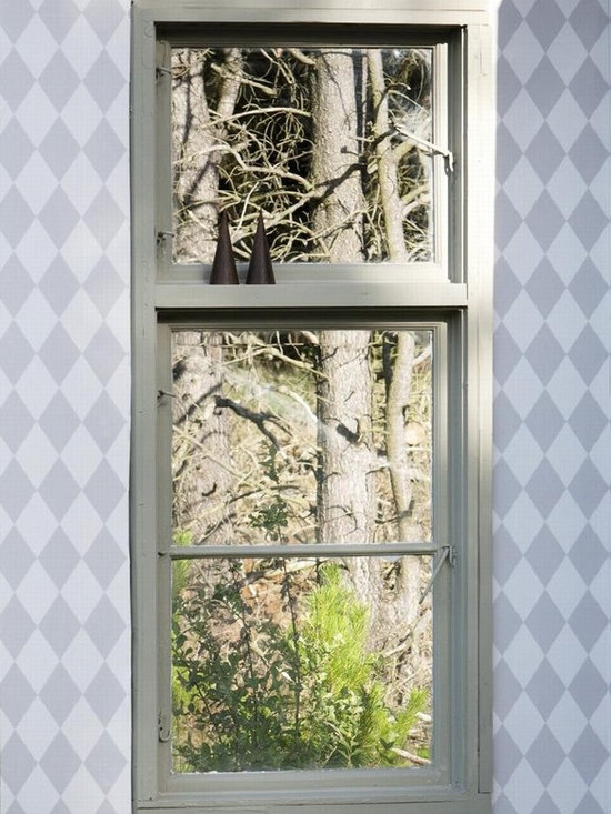 Ferm Living Grey Harlequin Wallpaper - Ferm Living's Wallpaper is graphic & whimsical adding character, charm and personality to any room. Wallpaper has a striking effect and will without a doubt turn your room into a sanctuary.