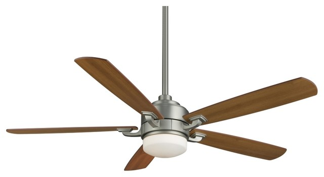 "Contemporary 52"" Fanimation Benito Satin Nickel Ceiling Fan contemporary ceiling fans"