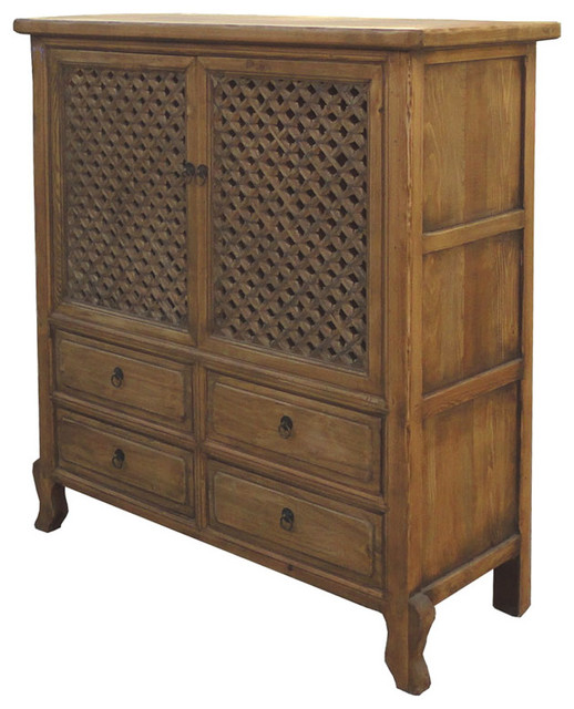 Chinese antique natural wood four drawers see through for Reclaimed wood furniture san francisco