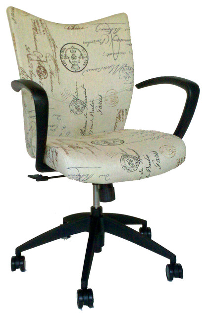 French Script Office Chair Contemporary Office Chairs