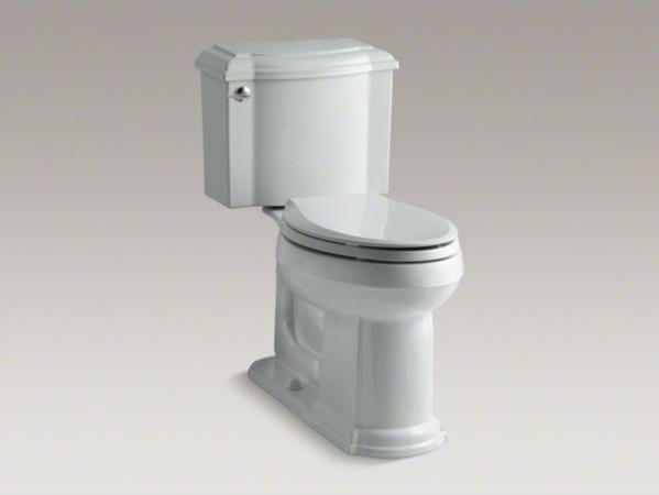 KOHLER Devonshire(R) Comfort Height(R) two-piece elongated 1.28 gpf toilet with contemporary-toilets