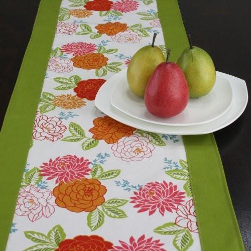 Chooty & Co. Cheri Flamingo with Circa Cactus Table Runner contemporary-tablecloths