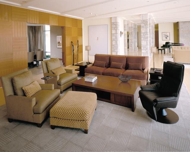 Lake Michigan House modern-living-room