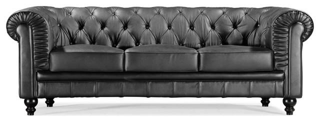 Zuo Modern Aristocrat Black Sofa contemporary-sofas