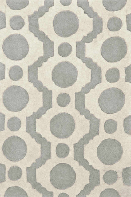 Circle Fret Tufted Wool Rug rugs