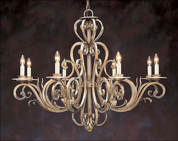 Viola Wrought Iron Crystal Chandelier