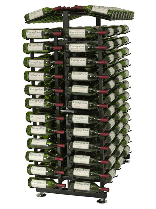 24 Bottle Island Display Endcap Wine Rack - Maximize retail display with elegance! Complete your run of Island Display Racks with retail rack endcaps. Capture attention of passers-by and utilize space at the end of your display aisles. This package includes everything you need except the IDR4 Island Display Rack (sold separately).