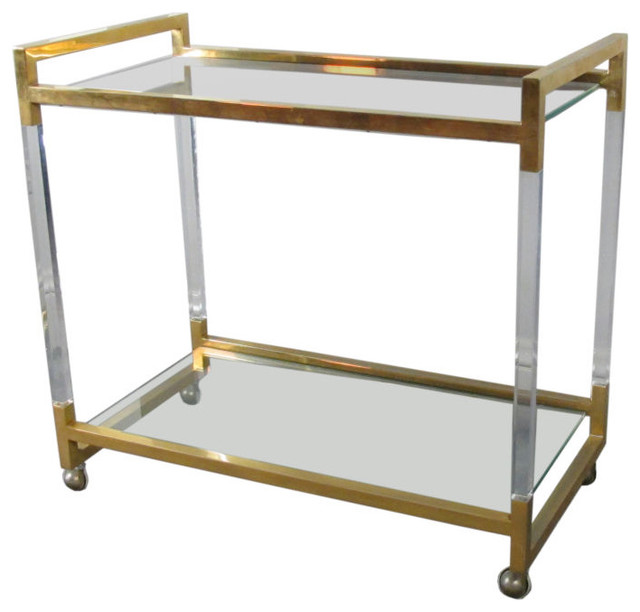 Lucite Bar Cart Modern Carts By 1stdibs