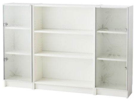 BILLY/NYCKELBY Bookcase with glass doors - Scandinavian - Bookcases ...