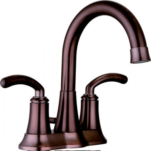Two Handle 4 Inch Center Set Lavatory Faucet With Pop Up Drain Contemporary
