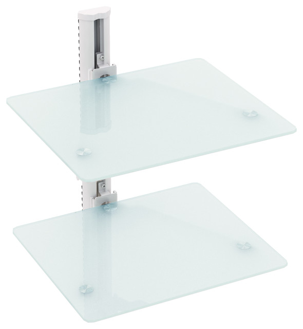 White Component Wall Mounted Shelf - Contemporary - Display And Wall Shelves - by CorLiving
