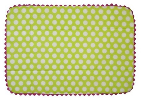 Lime Green Polka Dot Eclectic Placemat placemats