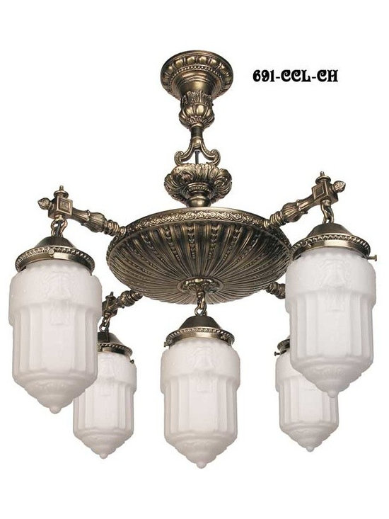 Victorian Chandeliers - Capture the Edwardian simplicity of the Belle Epoch. The originals from Fort Worden Officers' Quarters were made between1897 & 1917. The chandelier is solid brass, left unlacquered to mellow to a beautiful golden tone, or hand finished to an antique brass, pewter, or oil rubbed bronze patina.
