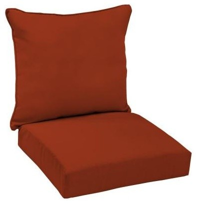Hampton Bay Outdoor Cushions Chili Red Patio Deep Seat