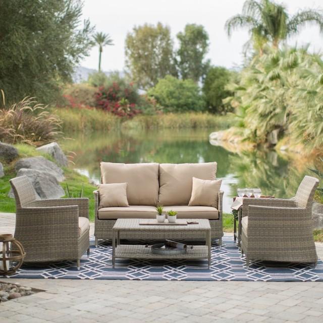 Bella Life Rattan Garden Furniture: Belham Living Bella All Weather Wicker Conversation Set