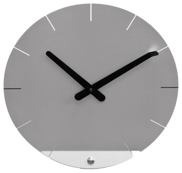 Sheet 2010 Silver Wall Clock Contemporary Wall Clocks