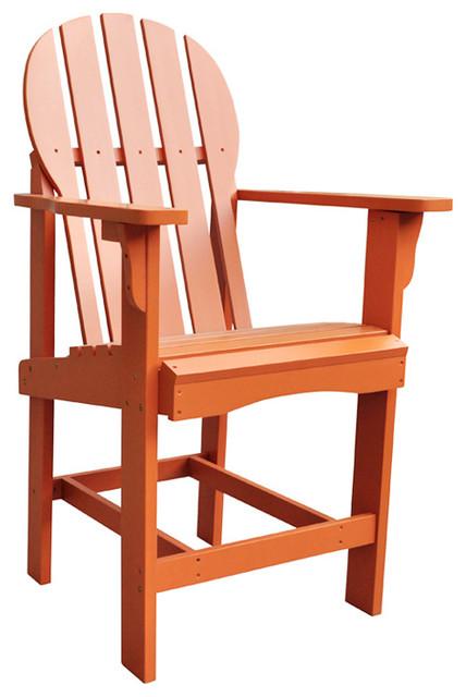 Shine pany Outdoor Patio Captiva Counter High Chair Rust Modern Adiro