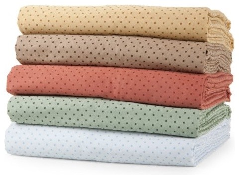 Elite Home Products Carlton Dot 300 Thread Count Cotton Sheet Set traditional sheet sets
