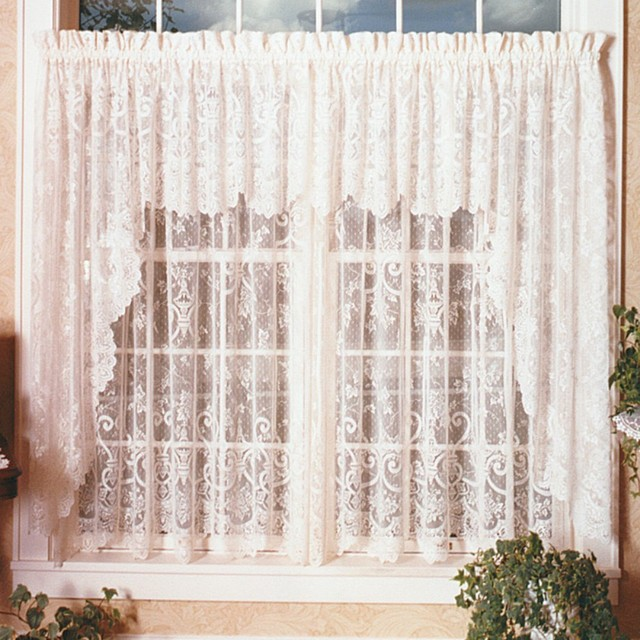 heritage lace english ivy swag pair modern curtains by hayneedle. Black Bedroom Furniture Sets. Home Design Ideas