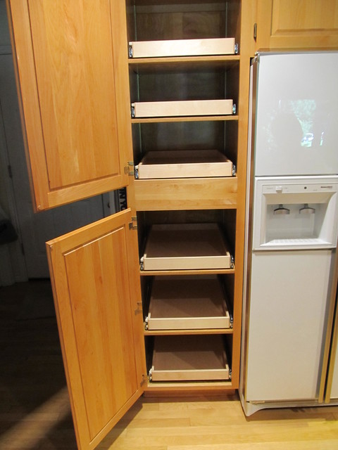 pull out shelving pantry cabinets portland by shelfgenie of