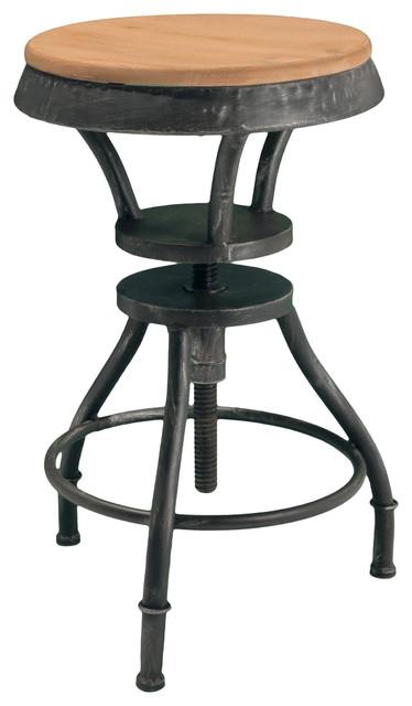 Henry Adjustable Height Bar Stool Industrial Bar  : industrial bar stools and counter stools from www.houzz.com size 374 x 640 jpeg 39kB