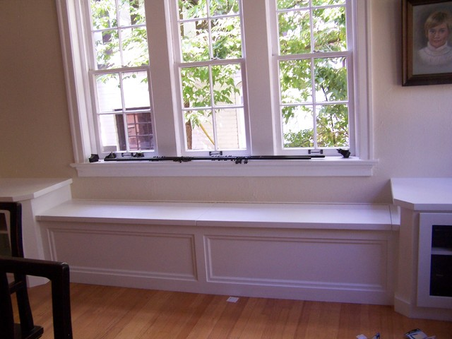 Window seat with corner cabinets - Modern - denver - by AMF Custom Works