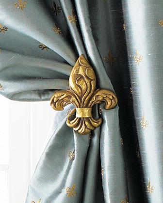Fleur-De-Lis Tieback Holder traditional window treatments