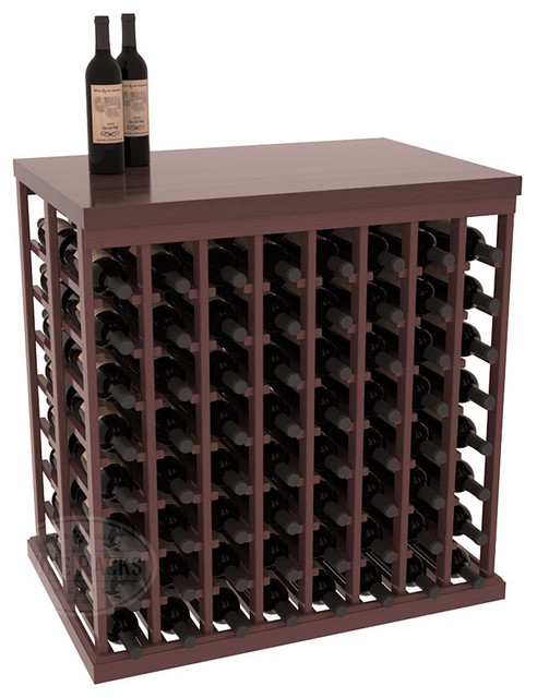 Double Deep Tasting Table Wine Rack Kit + Butcher Block Top in Pine with Walnut contemporary-wine-racks