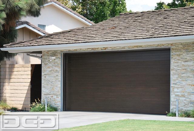 Mid century modern style garage doors garden gates in for Mid century modern garage
